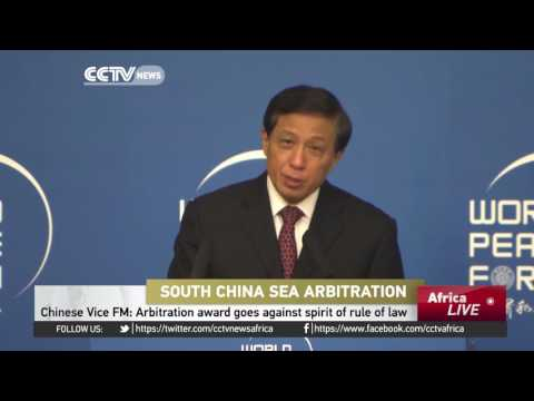 Chinese Vice FM: Arbitration award goes against spirit of rule of law