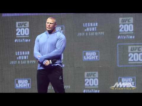 UFC 200: Brock Lesnar Open Workout Q&A Session