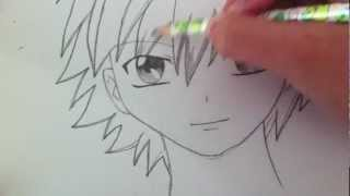 Drawing a Basic Manga Boy