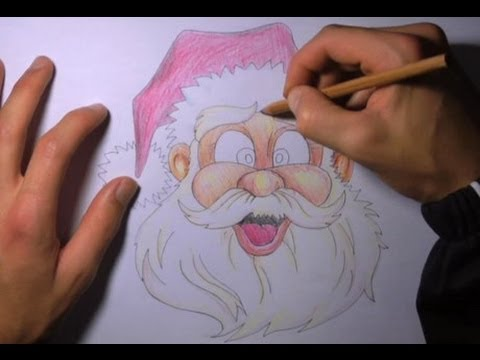 Disegnare babbo natale youtube - Immagini a colori di natale gratis ...