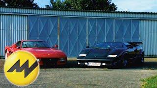 Lamborghini Countach vs. Ferrari 512 TR | Italienisches Luxus-Duell |Motorvision