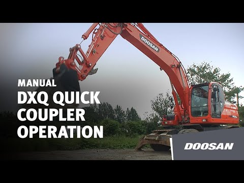 Doosan DXQ Quick Coupler Operation