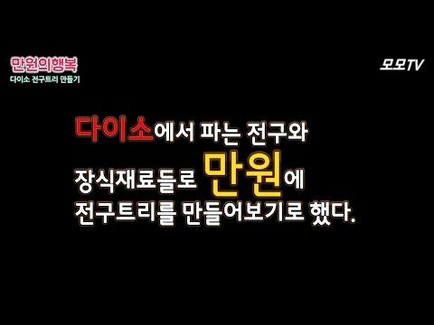 [모모TV] 다이소 만원으로 전구트리만들기! (대박쉬움)