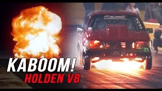 Big boost Holden V8 goes BOOM!