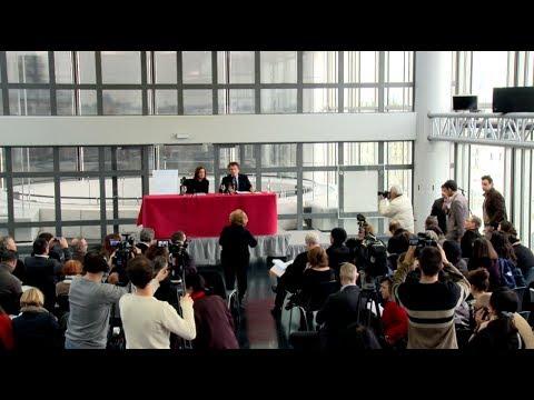 Conférence de presse à l'IMA - Jack Lang - Mona Khazindar