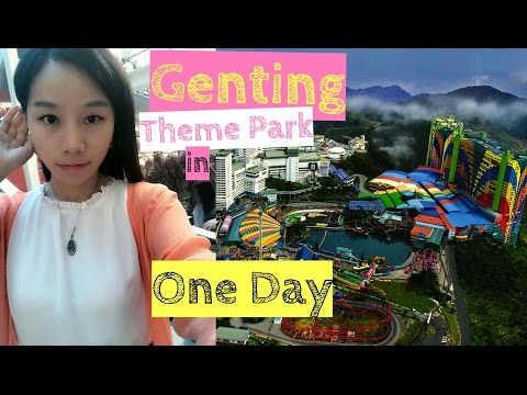 Genting Highlands Theme Park (Indoor) in One Day [Small Girl Big World]