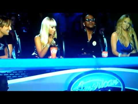 Nicki Minaj attacks Jimmy Iovine on American Idol (Funny)