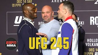 UFC 245 Media Day Staredowns | ESPN MMA