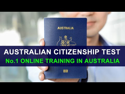 Australian Citizenship Test 2014 - No.1 Online Training in Australia