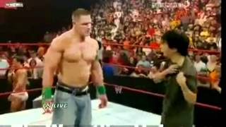 Mr.Chow from The Hangover Attacks WWE Wrestler John Cena on live TV