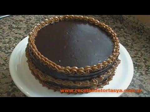 Torta de Chocolate con Cobertura de Chocolate y Dulce de Leche - Recetas de Tortas YA!