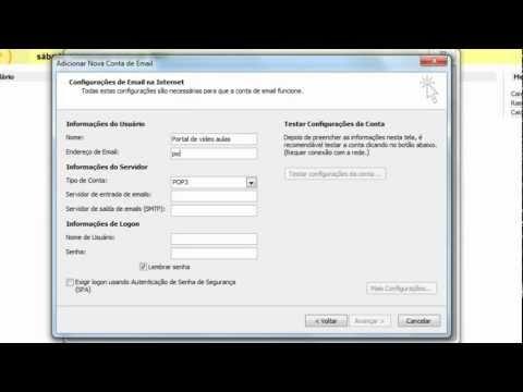 Como configurar o outlook 2007 com uma conta do gmail
