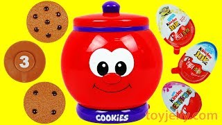 Count & Learn COOKIE JAR Surprise Toys Kinder Joy Learn to Count to 10 Baby Songs Nursery Rhymes