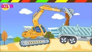 Lắp ráp Xe xúc đất - Máy ủi đất - Xe cần cẩu - Xe tải | Excavator Front Loader Crane Dump Truck