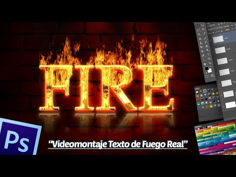 Tutorial Photoshop CS5 Extended: Videomontaje Texto de Fuego Real.