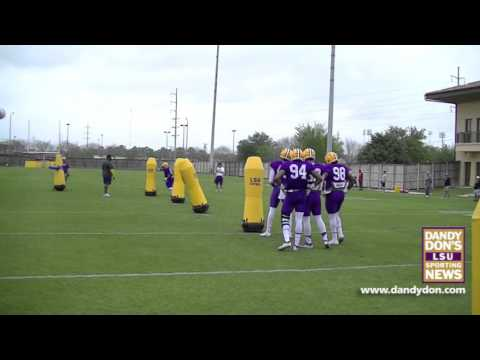 LSU Spring Football Practice, March 31, 2016 - Various Drills