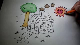 บ้านน้อย ฉบับปรับปรุงใหม่ สอนวาดรูปการ์ตูนน่ารักง่ายๆ สอนวาดรูปการ์ตูนระบายสี Coloring Pages