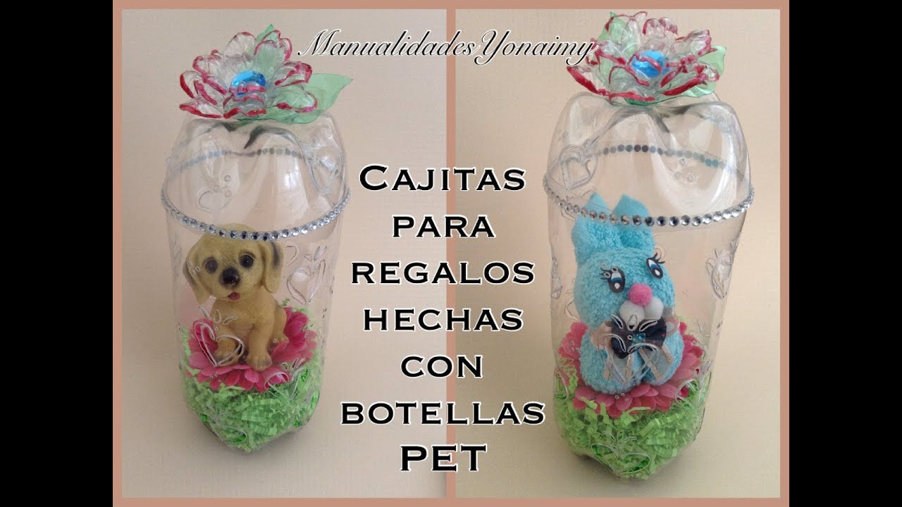 Cajitas cilindricas para regalo hechas con botellas pet - Manualidades para regalos ...