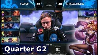 C9 vs AFS Game 2 | Quarter Final S8 LoL Worlds 2018 | Cloud 9 vs Afreeca Freecs G2