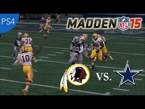 Thumbnail image for ''Madden NFL 15' Gameplay (Full Game): Redskins vs. Cowboys (PlayStation 4)'