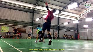 Linh - Hoàng vs Phong - Khánh | 08/04/2018 | NTH Weekend Badminton Club