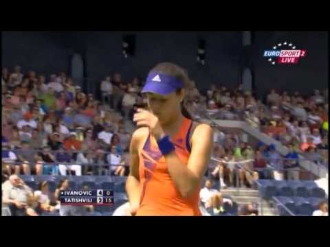 Great challenge by Ana Ivanovic - cute reaction!
