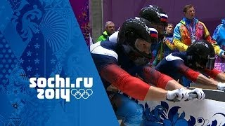 Bobsleigh - Four-Man Heats 1 & 2 | Sochi 2014 Winter Olympics