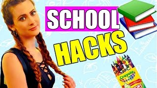 11 HACKS/ TIPS para la ESCUELA/ UNIVERSIDAD  QUE NO SABÍAS | BACK TO SCHOOL LIFE HACKS | Lizy P