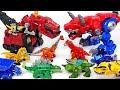 Jurassic World dinosaur Indoraptor appeared! Transformers Rescue Bots, Dinotrux! Go! - DuDuPopTOY