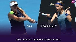 Sofia Kenin vs Anna Karolina Schmiedlova | 2019 Hobart International Final | WTA Highlights