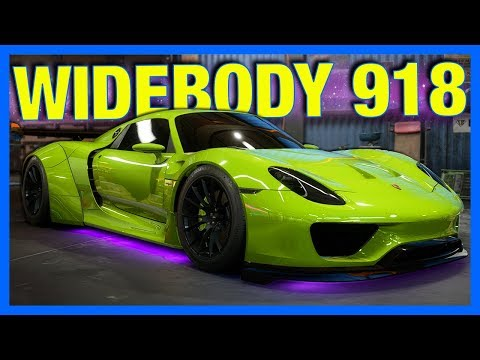 Need For Speed Payback Customization : WIDEBODY PORSCHE 918 BUILD!!  (NFS Payback Gameplay)
