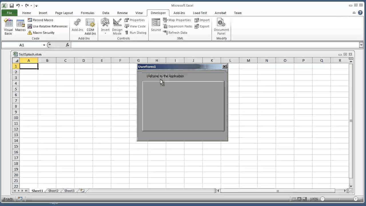 how to add calendar in excel 2010 userform