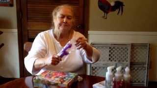 Granny gets a dildo