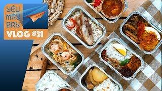 VLOG #31: Review đồ ăn Jetstar, VietJet, AirAsia | Yêu Máy Bay