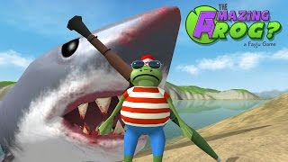 Amazing Frog - Ep 4 - Hunting the MEGA SHARK!! (Megalodon) - Amazing Frog Gameplay