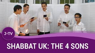 A Cappella Havdala Service - The 4 Sons | Shabbat UK | J-TV