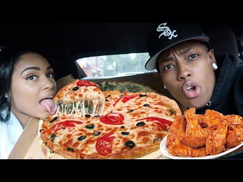 CHEESY PIZZA MUKBANG! thumbnail