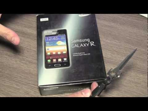 New Samsung Galaxy R i9103 Unboxing and Review Music Videos