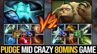 What A Game!!! Immortal Pudge Vs Divine Storm Spirit Mid - Crazy 80 Mins Gameplay | Pudge Official