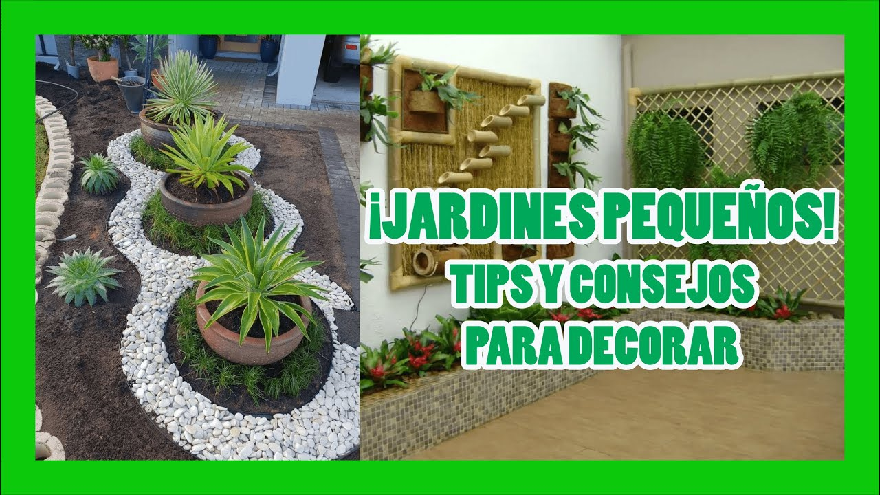 Decoraci n de jardines peque os youtube for Decoraciones jardines