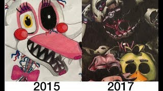 My drawing progress 2015-2017 SPECIAL 100.000 SUBSCRIBERS