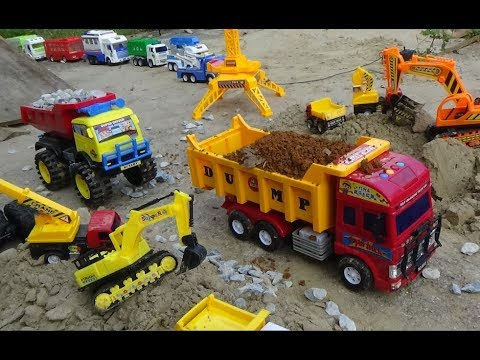 Trucks for children | Excavator for kids | Car toys | Songs for kids | Construction