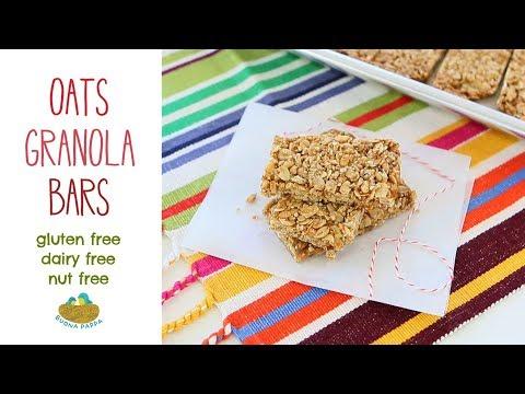 Homemade Oats Granola Bars Recipe +12M nut  gluten  dairy free