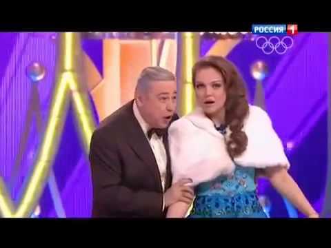 Марина Девятова и Евгений Петросян- Новый Год (Голубой Огонек 2014)