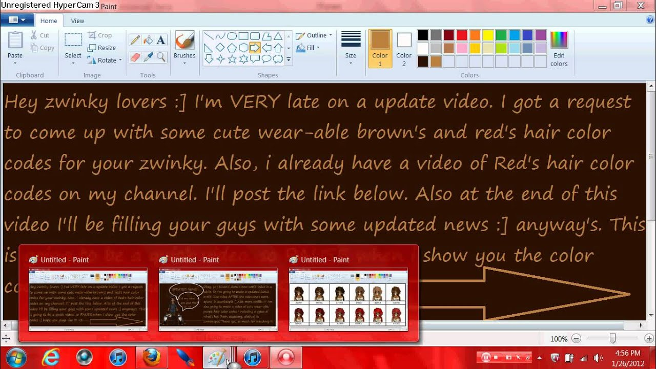 zwinky red and brown hair color codes youtube