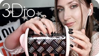 ASMR 3Dio Ring & Case Mic Scratching w/ Tapping, Close Whispering & a Little Portuguese 😴 Sleep