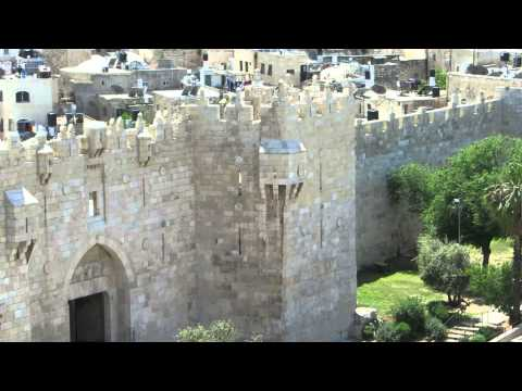 Observation on the Damascus Gate from The Schmidt school (St. Paul's Hospice)