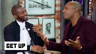Jay Williams storms the set to debate James Harden's disallowed dunk | Get Up
