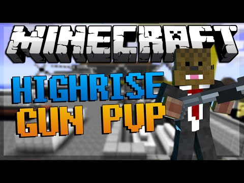 Minecraft Gun Mod 2 VS 2 HIGHRISE PVP Modded Minigame w JeromeASF Friends