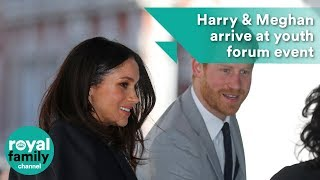 Prince Harry and Meghan Markle arrive at Commonwealth event